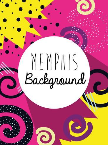 Memphis colorful background design