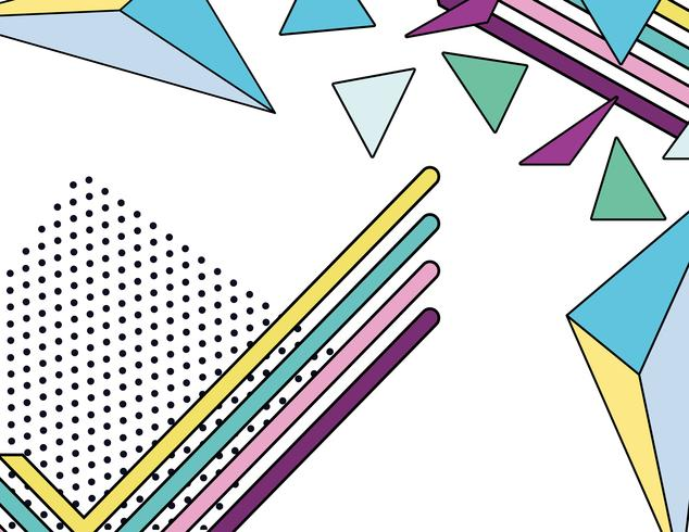 Memphis colorful background design vector