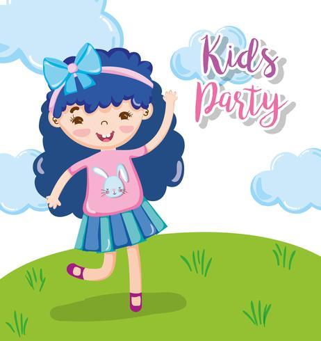 Dessins animés de fête d'enfants vecteur