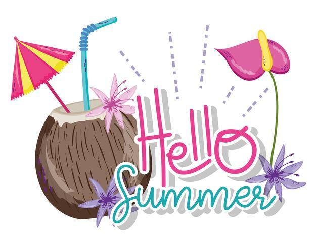 Olá cartoons de verão