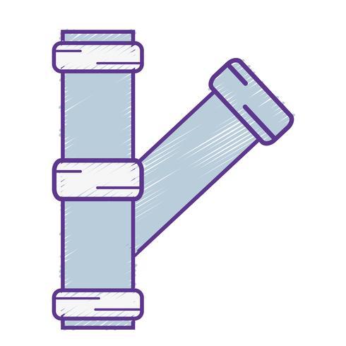 construction de matériel de réparation de tubes de plomberie râpé