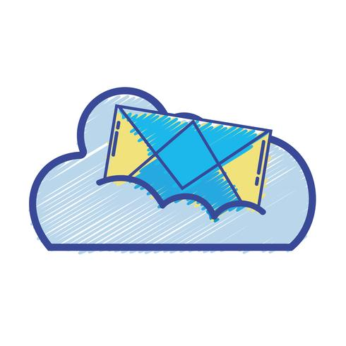 cloudgegevens met e-mailkaartbericht