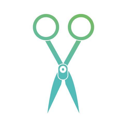 contour medical scissors equipment design vector