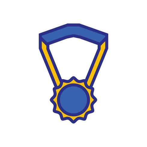 simbolo della medaglia di scuola per studente intelligente