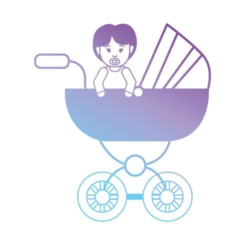linha menina dentro de carrinho de criança