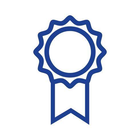 silhouet school medaille symbool voor intelligente student