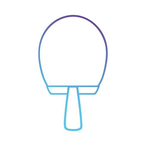line racket object to practice tennis