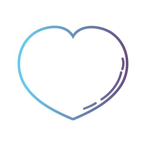 lijn hartsymbool van liefde en passie
