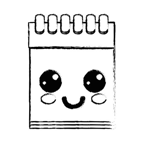 figura kawaii bonito feliz ferramenta de caderno