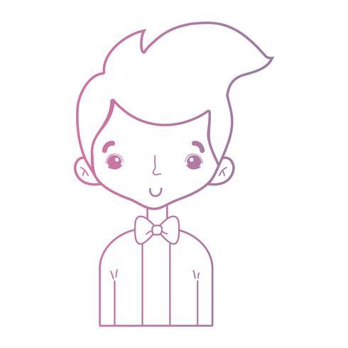 ligne gentil garçon avec un costume élégant et design
