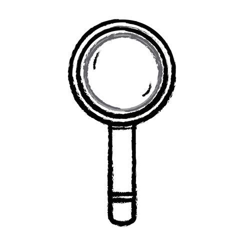 figura lupa herramienta objeto de diseño vector