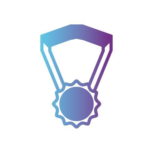 símbolo de medalha de escola de linha para estudante inteligente
