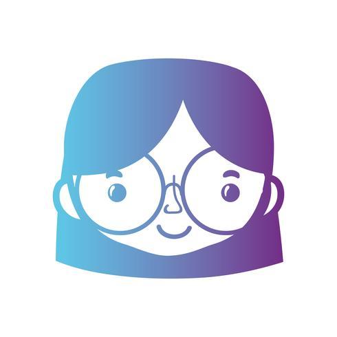 tête de femme avatar ligne avec la conception de coiffure