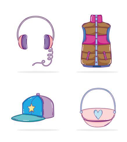 Conjunto de ícones de cultura juvenil