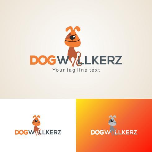 Honden wandelaars Logo ontwerpsjabloon