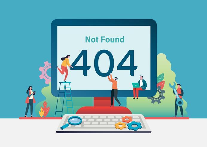 404 foutpagina niet gevonden. Vector illustratie achtergrond.