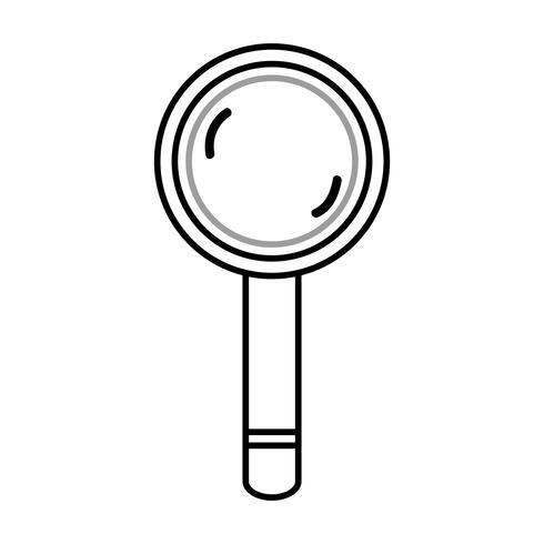 Linie Lupe Werkzeug Objektdesign