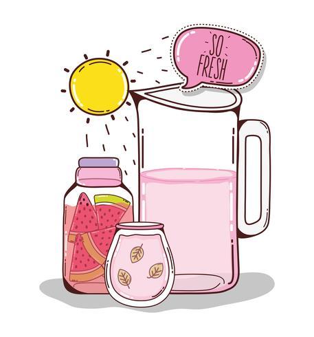 Desenhos animados de suco de desintoxicação