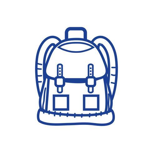 objeto de mochila de silhueta com bolsos e fechamentos de design