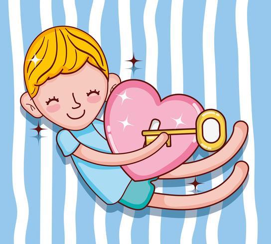 Enfants et dessins animés d'amour