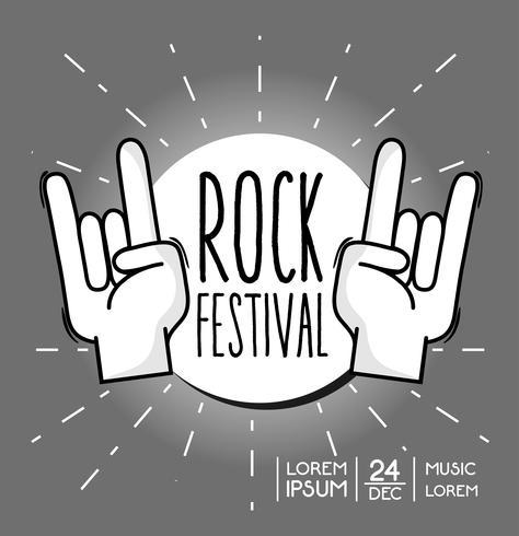 festival de rock evento de música de concerto