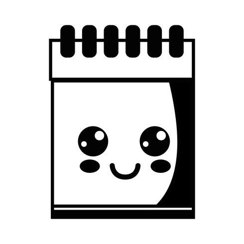 contorno kawaii bonito feliz notebook ferramenta
