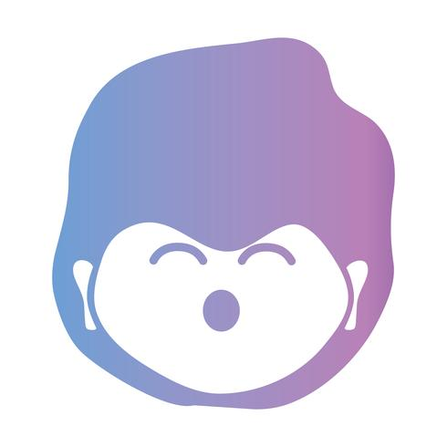 line avatar man with hairstyle design vector