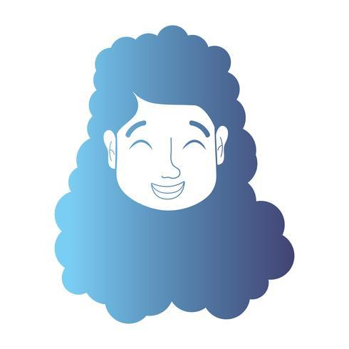 linea avatar donna testa con acconciatura