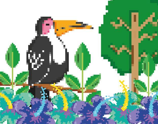 Scenario della foresta pixelata