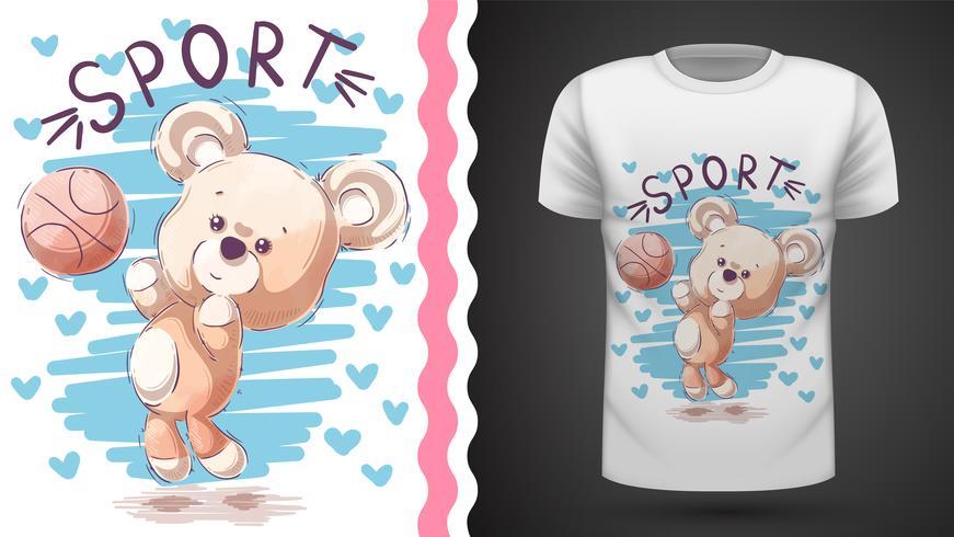 Teddybär spielen Basketball - Modell für Ihre Idee