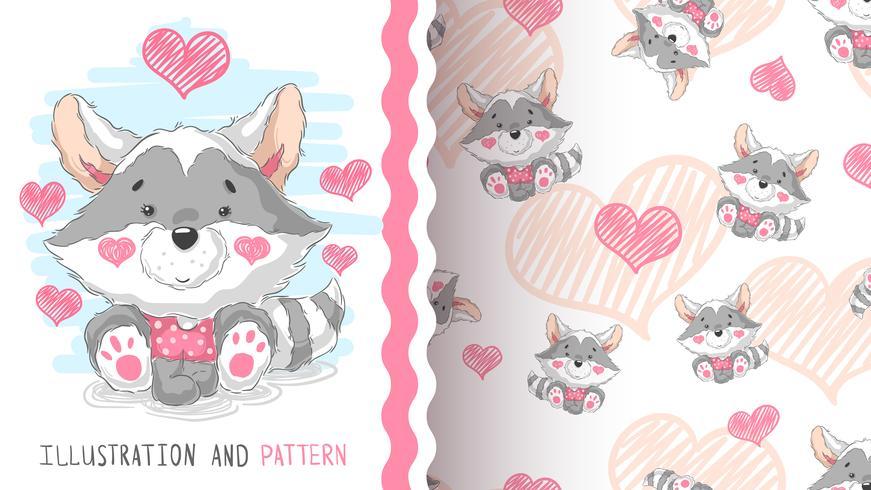 Cute teddy raccoon - idea for print t-shirt.