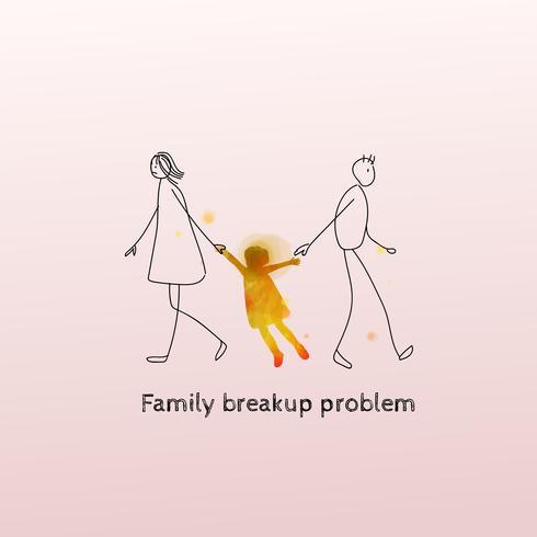 Notion de problème de rupture familiale. Divorce, séparation des parents et des enfants.