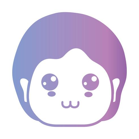 line avatar man with hairstyle design