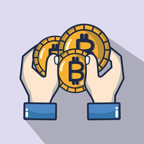 tecnologia de segurança de dinheiro digital bitcoin vetor