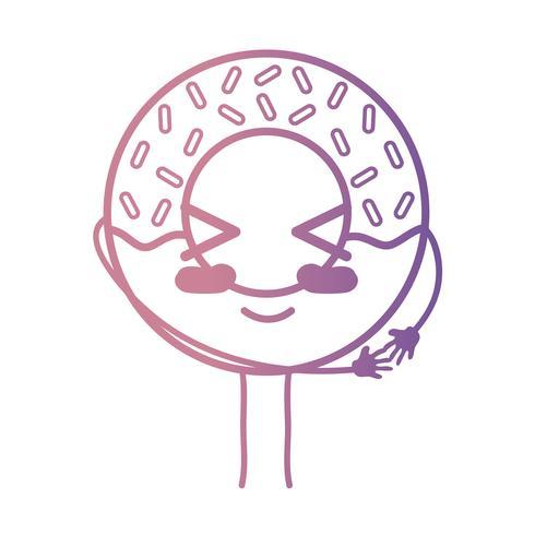 linje kawaii söt lycklig söt munk