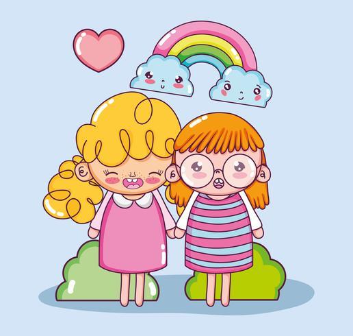 beautiful girls cartoons