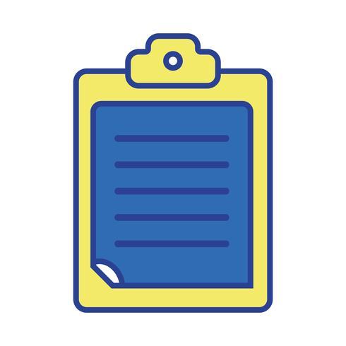 check lijst bedrijfsdocument in het klembordontwerp