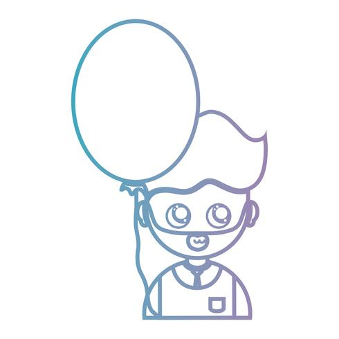 homme de ligne avec la conception de coiffure et ballon vecteur