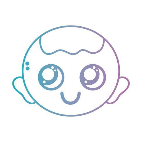 Linie Baby Kopf mit Frisur Design