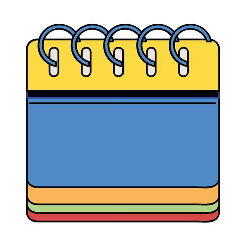 calendar information to organizer event day vector