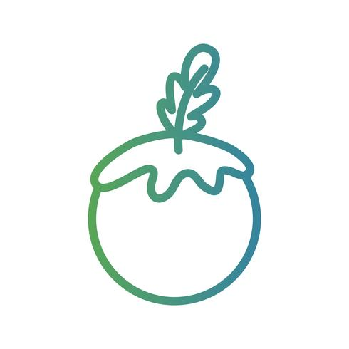 Linie gesundes Tomatengemüselebensmittel