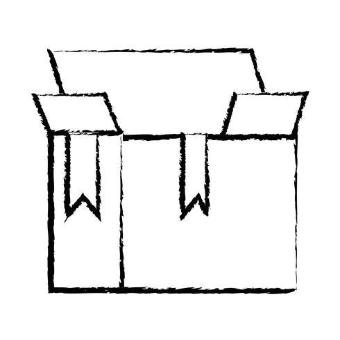 figura scatola pacchetto oggetto design aperto
