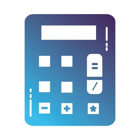 Silhouette Finanzrechner zur Buchhaltung Geschäftsdaten