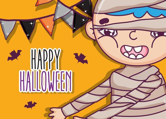 Happy halloween cartoons vector
