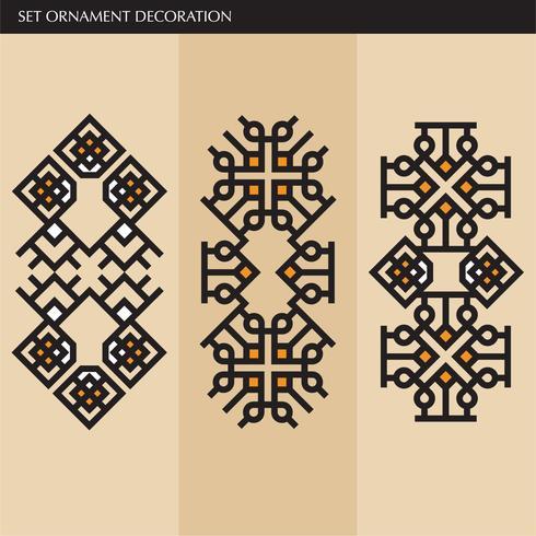 Lujo japonés, caligráfico, líneas de ornamentos aztecas elegantes. vector