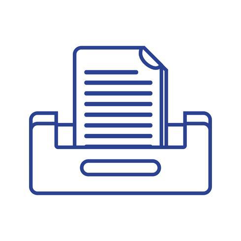 line buciness document archiefkast ontwerp vector