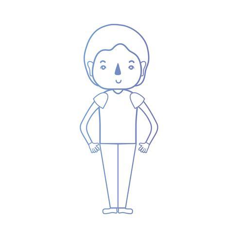 linea uomo con design acconciatura e vestiti