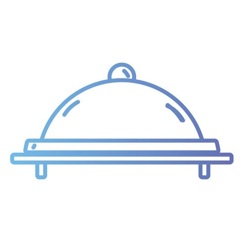 line catering service to food menu vector