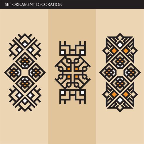 Elegantes líneas de adornos japoneses, caligráficos, aztecas elegantes para etiqueta