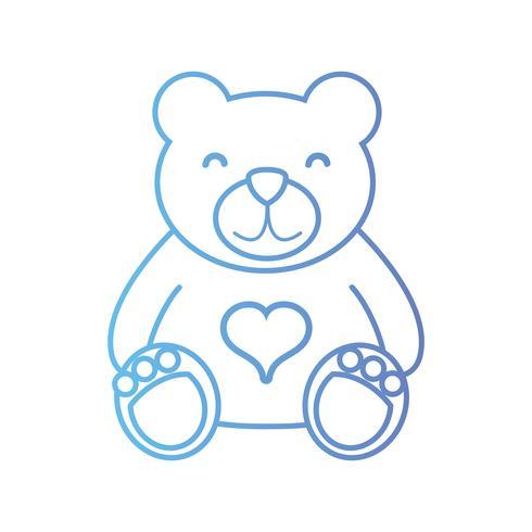 linea simpatica orsacchiotto giocattolo per gioco